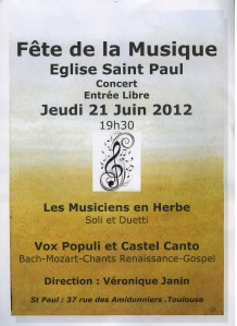 Affiche Concert 21 juin 2012